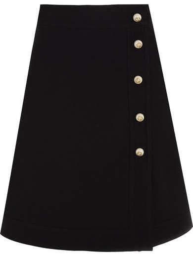 Gucci - Embellished Wool And Silk-blend Mini Skirt - Black
