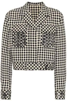 Bottega Veneta Checked cotton and wool blazer