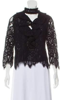 Alexis Crochet Ruffle-Trimmed Top w/ Tags