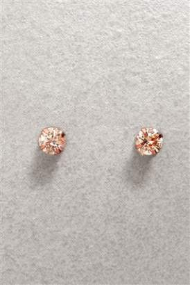 Next Womens Rose Gold Sterling Silver Cubic Zirconia Stud Earrings