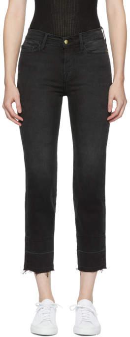 Black le Nouveau Straight Jeans