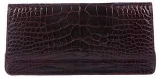 Manolo Blahnik Alligator Flap Clutch