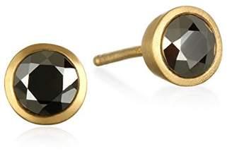 Satya Jewelry Pyrite Gold Plate Stud Earrings