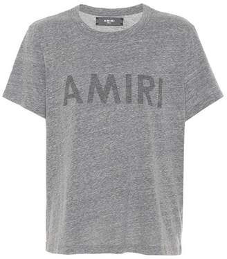 Amiri Printed cotton-blend T-shirt