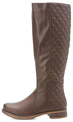 Quilted Knee-High Riding Boots $40.99 thestylecure.com