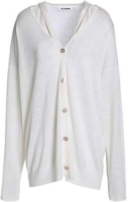Jil Sander Cutout Linen Cashmere And Silk-Blend Cardigan