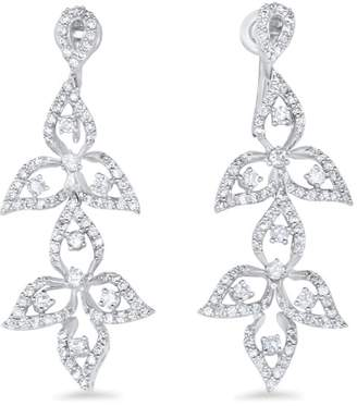Alberto Diamond Leaf Drop Earring
