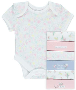 George Assorted Short Sleeve Bodysuits 7 Pack