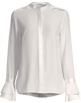Elie Tahari Safiya Bell Sleeve Silk Blouse
