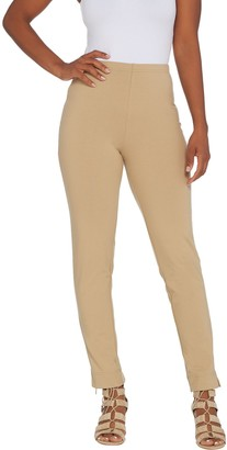 Women With Control Women with Control Regular Slim Leg Ankle Pants with Faux Back Pockets