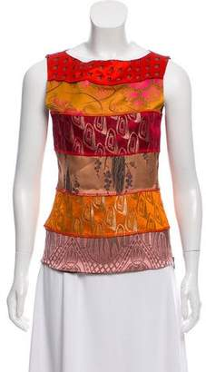 Jean Paul Gaultier Jacquard Sleeveless Top