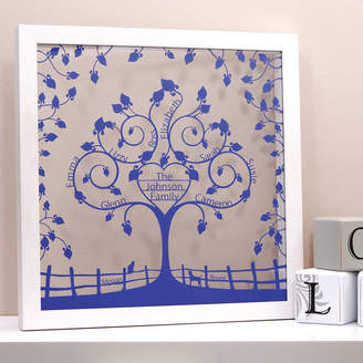 Urban Twist Personalised Floral Heart Family Tree