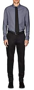 Armani Collezioni MEN'S MINI-SQUARE-CHECK OXFORD DRESS SHIRT-DK. BLUE SIZE 17.5