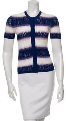Missoni Short Sleeve Striped Cardigan