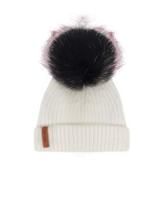 60833332aef Bklyn Merino Wool Pom Pom Hat Colour  Off White