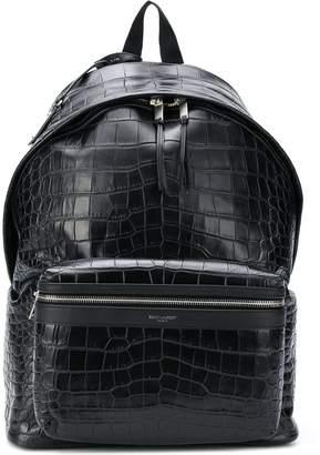Saint Laurent crocodile-effect City backpack
