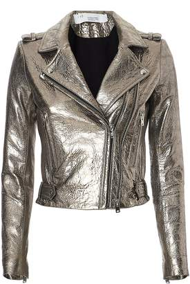 IRO Dylan Metallic Cropped Moto Jacket