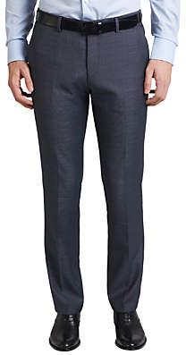 HUGO BOSS HUGO by C-Huge Virgin Wool Diamond Weave Suit Trousers, Turquoise Aqua