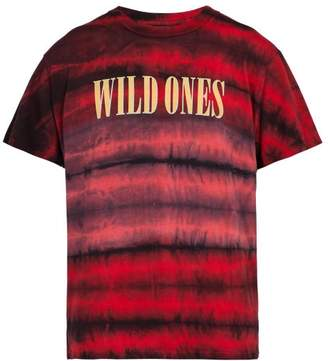 Amiri Wild Ones Tie Dye Cotton T Shirt - Mens - Red