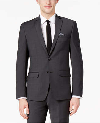 Bar III Men's Skinny Fit Stretch Wrinkle-Resistant Charcoal Suit Jacket, Created for Macy's