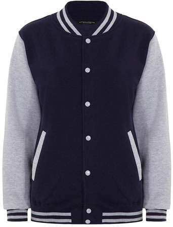 Dorothy Perkins Navy varsity jacket
