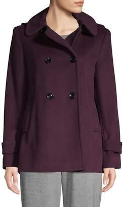 Calvin Klein Hooded Wool-Blend Peacoat