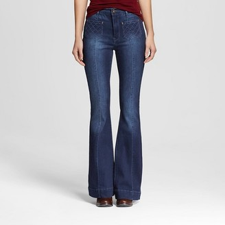 Dollhouse Women's High Rise Flare Jeans Dark Wash-Dollhouse (Juniors') $34.99 thestylecure.com