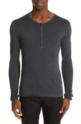 John Varvatos Ribbed Henley T-Shirt