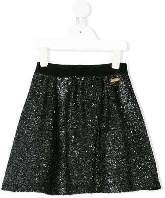 Moschino Kids bouclé knit A-line skirt