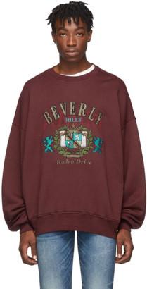 Amiri Burgundy Beverly Hills Sweatshirt