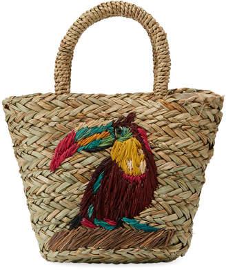 Hat Attack Petite Seagrass Toucan Straw Tote Bag