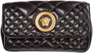 Versace Leather Belt Bum Bag Hip Pouch Medusa