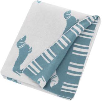 Emily Bond - Knitted Dachshund Throw - Blue
