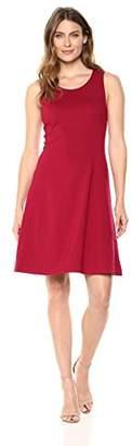 Lark & Ro Women's Sleeveless Crewneck Fit and Flare Dress