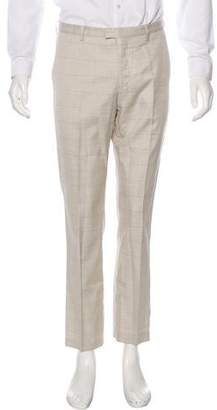 Kenzo Wool-Blend Plaid Pants