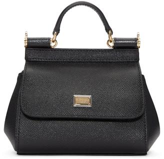 Dolce & Gabbana Black Micro Miss Sicily Bag $995 thestylecure.com