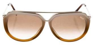 Emilio Pucci Ombré Aviator Sunglasses