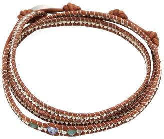 Chan Luu Women's Triple Crystal Leather Bracelet