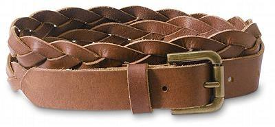 Skinny Braided Leather Belt