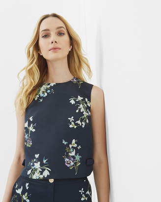 Ted Baker SAMSA Entangled Enchantment bow cropped top