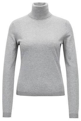 HUGO BOSS Roll-neck sweater in a cotton blend with cashmere