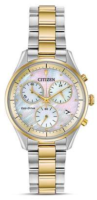 Citizen Chandler Mother-of-Pearl Dial Eco-Drive Chronograph, 32mm