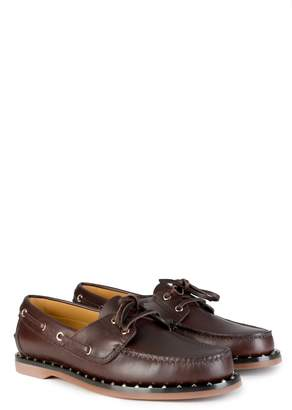 Valentino Leather Boat Shoes