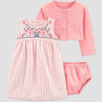 Carter's Just One You made by carter Baby Girls' Elephant Embroidered Cardigan Dress Set - Just One You® made by Pink