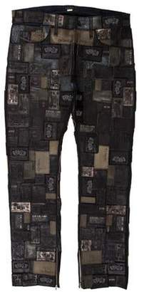 Diesel Reboot Leather Patchwork Jeans w/ Tags