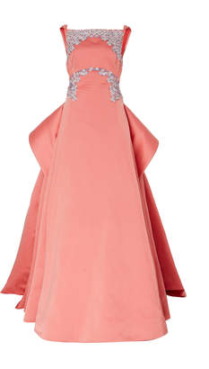 Zac Posen Duchess Buttercup Embroidered Gown