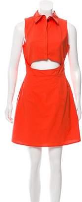 Tanya Taylor Cutout A-Line Dress