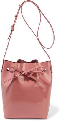 Mansur Gavriel - Mini Patent-leather Bucket Bag - Antique rose $445 thestylecure.com