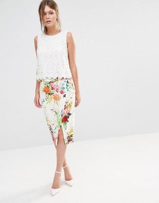 Oasis Floral Pencil Skirt $78 thestylecure.com