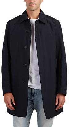 Barneys New York MEN'S INSULATED BALMACAAN RAINCOAT - MIDNIGHT SIZE 44